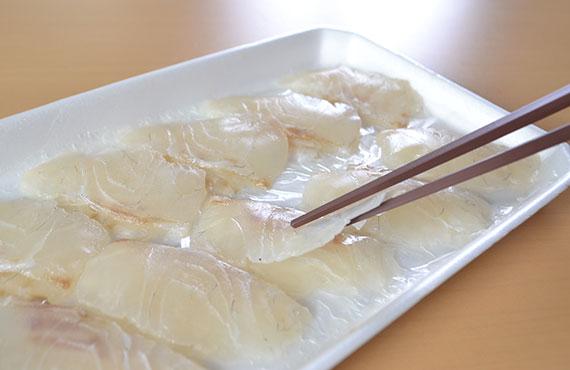 生食鯛(カルパッチョ) 30枚