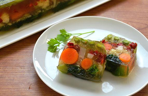 春野菜のアスピック(ゼリー寄せ) 1本