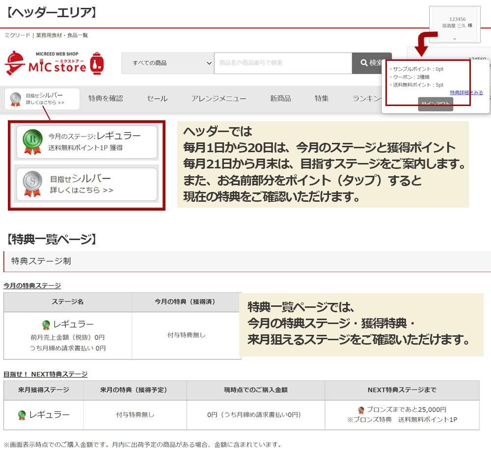 MICstore画面イメージ